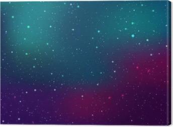 Tableau sur toile Espace de fond avec des étoiles et des taches de lumière. Résumé astronomique galaxie illustration.