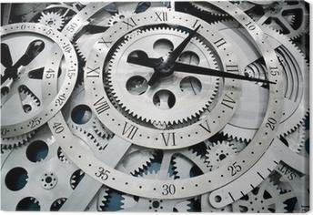 Tableau sur toile Et des engrenages d'horloge