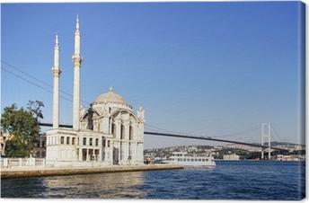 Tableau sur toile Eté à Ortakoy mosquée avec Mecidiye
