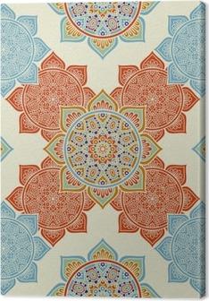 Tableau sur toile Ethnic seamless floral