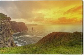 Tableau sur toile Falaises idylliques en Irlande
