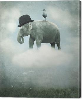 Tableau sur toile Fantaisie éléphant volant