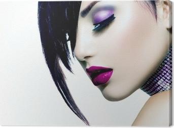 Tableau sur toile Fashion Beauty Girl. Portrait de femme magnifique