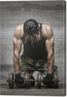 Tableau sur toile Fatigué athlète musculaire