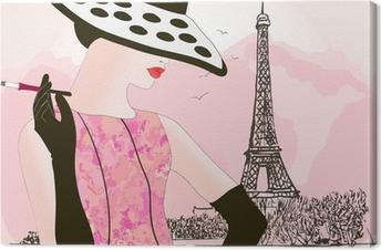 Tableau sur toile Femme de mode à Paris