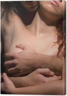 Tableau sur toile Femme et l'homme la tentation