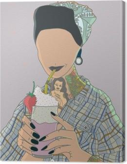 Tableau sur toile femme sans visage - Ricardo X Parker