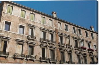 Tableau Sur Toile Fenêtre Du Balcon De La Fenêtre Volets Volets Maison De  Mur De Maison
