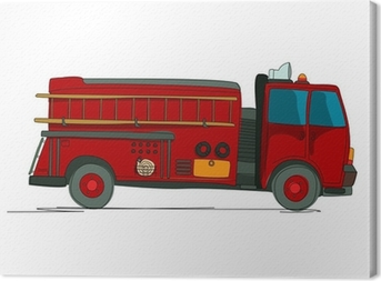 Tableau sur toile Feu bande dessinée de camion