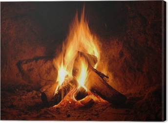 Tableau sur toile Feuer, Kaminfeuer, Flammen,