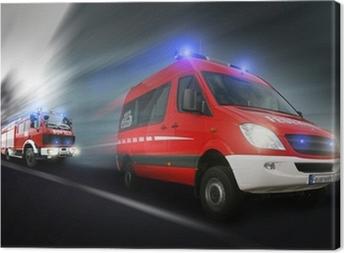 Tableau sur toile Feuerwehreinsatz