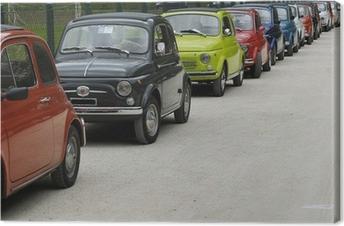 Tableau sur toile Fiat 500 rallye