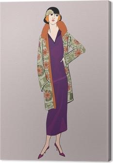 Tableau sur toile Filles d'aileron (le style de 20): Rétro partie de mode