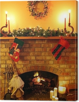 Tableau sur toile Fireside Christmas