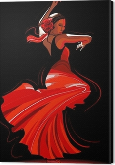Tableau sur toile Flamenco danseuse
