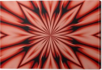 Tableau sur toile Fleur de soie - rose