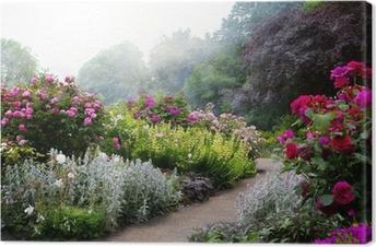 Tableau sur toile Fleurs de l'art dans la matinée dans un parc à l'anglaise