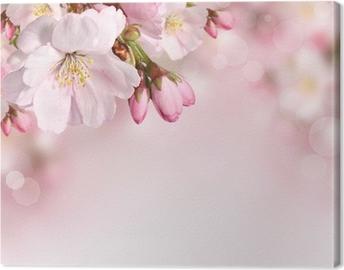 Tableau sur Toile Fleurs de printemps fond avec la fleur rose