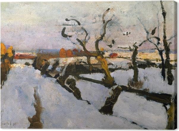 Tableau sur toile Floris Verster - Etude de la neige - Reproductions