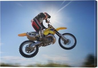 Tableau sur toile Flying moto