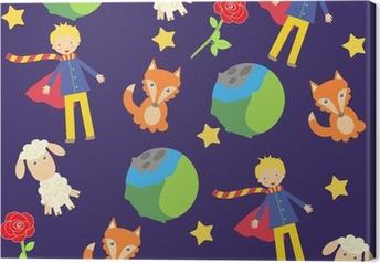 Tableau sur toile Fond avec les petits personnages de prince