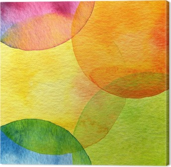 Tableau sur toile Fond cercle abstrait aquarelle peinte