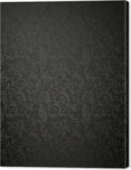 Tableau sur toile Fond d'écran Black Pattern