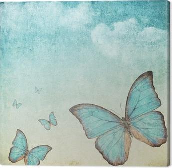 tableaux sur toile papillons pixers nous vivons pour changer. Black Bedroom Furniture Sets. Home Design Ideas