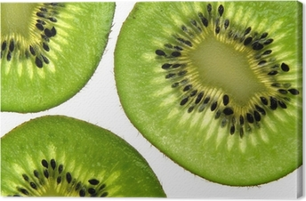 Tableau sur toile Fond de kiwi