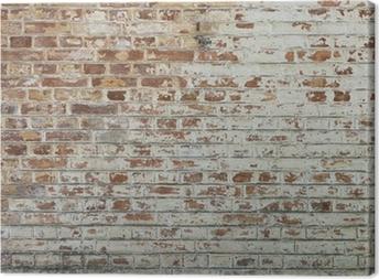 Tableau sur toile Fond de vieux mur de brique sale vintage avec du plâtre pelage