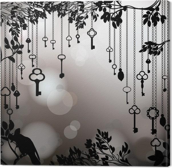 tableau sur toile fond vintage noir et blanc avec des touches pixers nous vivons pour changer. Black Bedroom Furniture Sets. Home Design Ideas