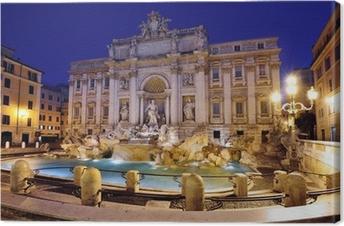 Tableau sur toile Fontaine de Trevi, Rome