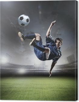 Tableau sur toile Footballeur