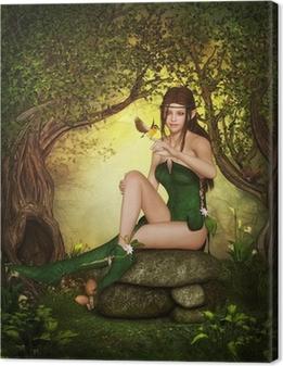 Tableau sur toile Forêt elfe