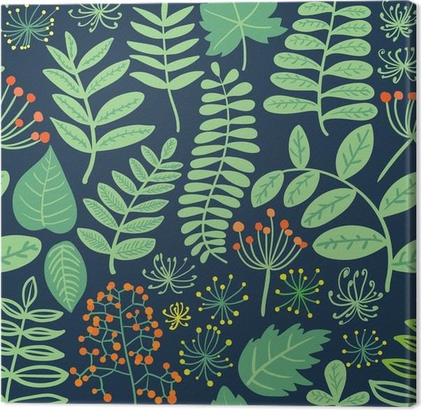 tableau sur toile for t sans soudure color es feuilles et les baies de vecteur noir motif de. Black Bedroom Furniture Sets. Home Design Ideas