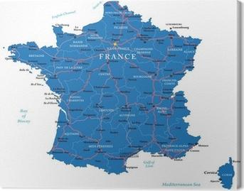 Tableau sur toile France map