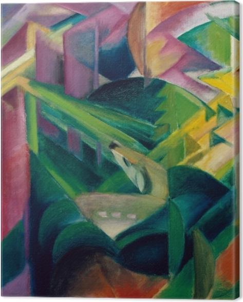 Tableau sur toile Franz Marc - Cerf dans le jardin du monastère - Reproductions