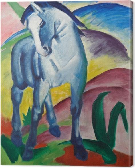 Tableau sur toile Franz Marc - Cheval bleu - Reproductions