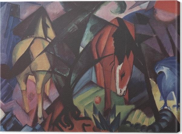 Tableau sur toile Franz Marc - Chevaux et aigle - Reproductions