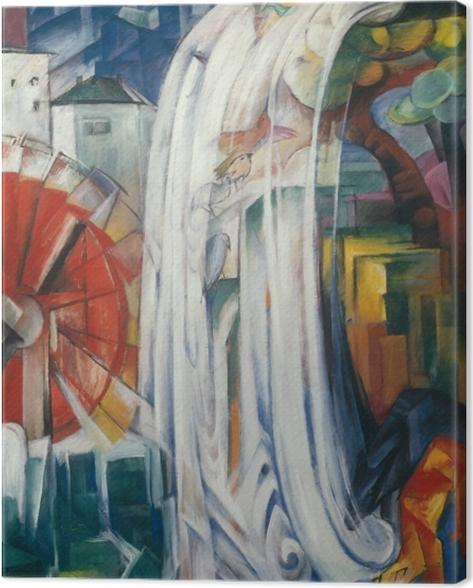 Tableau sur toile Franz Marc - Le moulin envouté - Reproductions