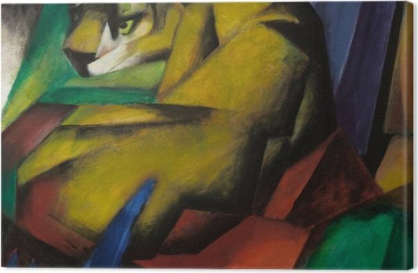 Tableau sur toile Franz Marc - Le tigre - Reproductions