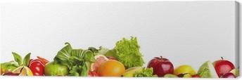 Tableau sur toile Frontières des fruits et légumes