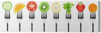 Tableau sur toile Fruits et Légumes