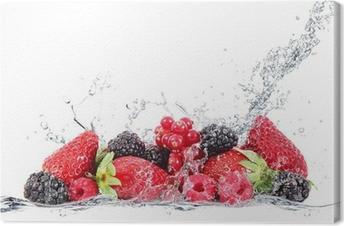 Tableau sur toile Frutti di bosco éclaboussures