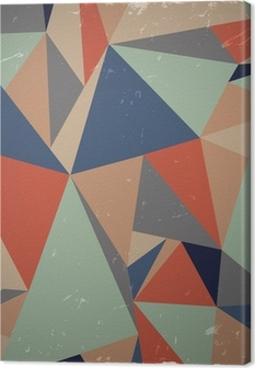 Tableau sur toile Géométrique fond grunge en couleurs rétro