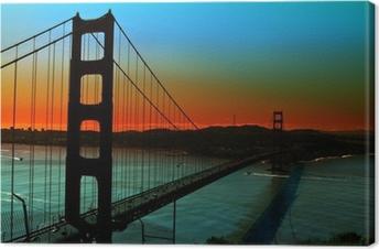 Tableau sur toile Golden gate bridge