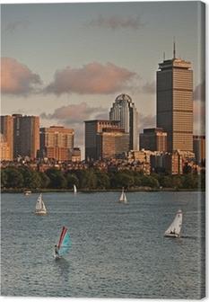 Tableau sur toile Golden Sunset sur Boston