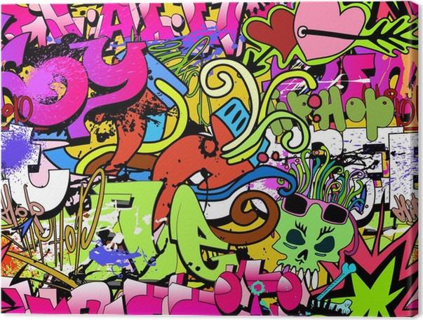 tableau sur toile graffiti mur de fond de l 39 art style hip hop texture homog ne pat pixers. Black Bedroom Furniture Sets. Home Design Ideas