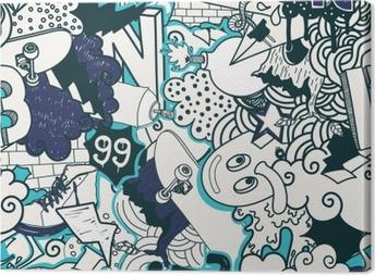 Tableau sur toile Graffiti pattern coloré