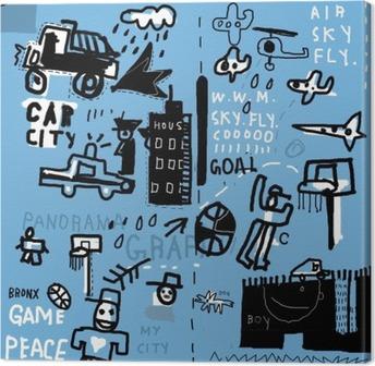Tableau sur toile Graffiti